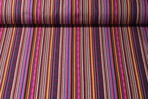 Canvas gemustert - Mexico gestreift Lila Multicolor