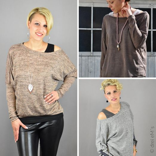Kombi-eBook -Top HELLI und Pullover BELLI - Schnittmuster eBook