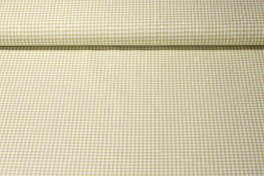 Baumwolle gemustert - Kariert Hellgrün Weiß