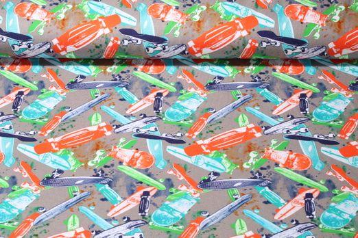 Jersey gemustert - Skate Grau Multicolor