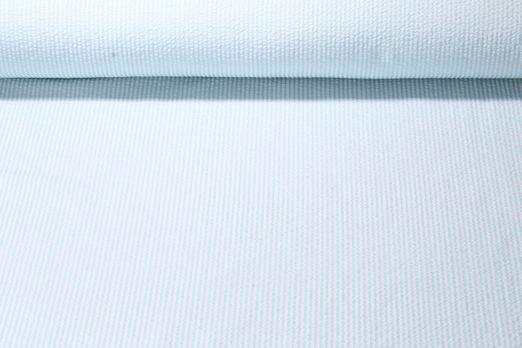 Seersucker - Gestreift Mint Weiss