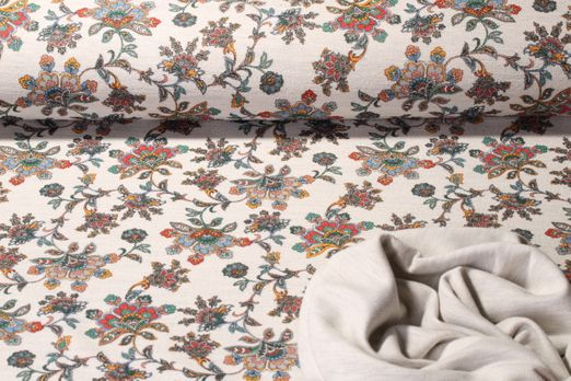 Sommersweat  - Completely Paisley Doubleface Ecru Multicolor