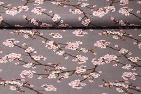Modal Jersey - Kirschblüten Grau Multicolor