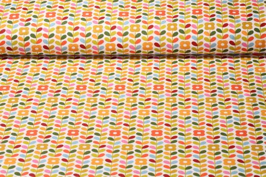 Baumwolle gemustert - Petula Orange Multicolor