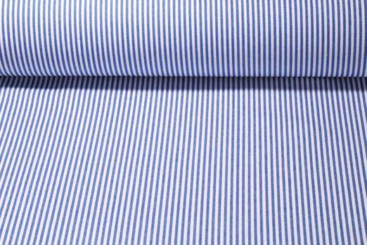 Jeans - Mini Streifen Weiß Blau