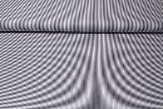 Baumwolle gemustert - Streifen Navy Weiß