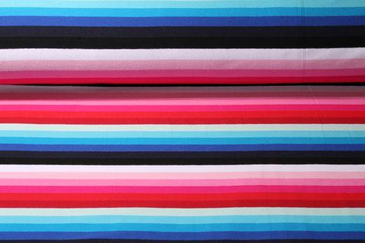 Jersey gestreift - Regenbogenstreifen Pink Blau Multicolor