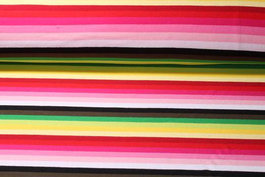 Jersey gestreift - Regenbogenstreifen Gelb Pink Multicolor