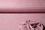 Jersey gestreift - Stripes Doubleface Grau Rosa 001