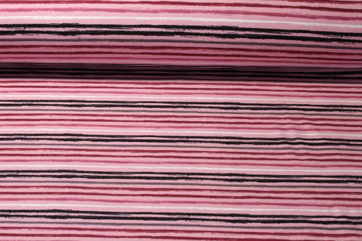 Jersey gestreift - Painted Stripes Rosa Multicolor