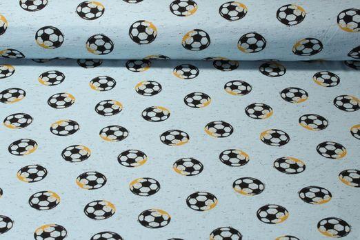 Jersey gemustert - Fußball Blau Melange Multicolor