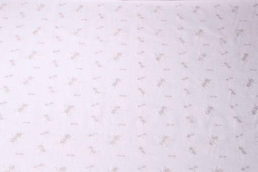 Baumwolle uni - Ausbrenner Ameise Weiss