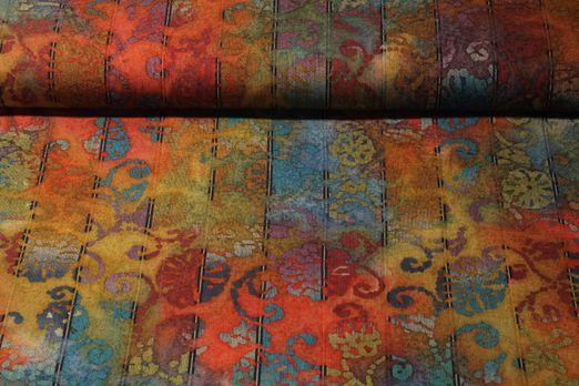 Canvas gemustert - Batik Streifen Multicolor