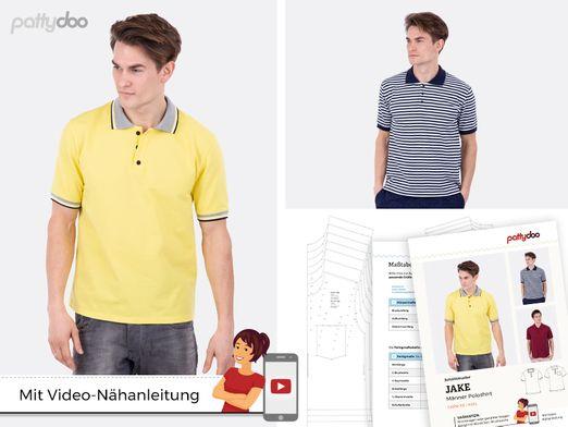 Poloshirt - Jake - Papier-Schnittmuster