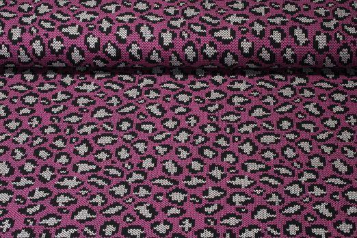Jersey gemustert - Strickoptik Leo Pink