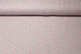 Jersey gemustert - Super Sweet Grau Melange Neon Pink