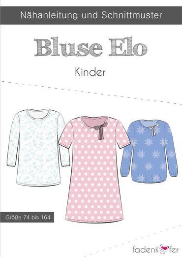 Kinder Bluse Tunika - Elo - Papierschnittmuster