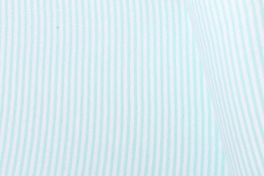Bündchen geringelt - Midi Stripe Mint Weiß