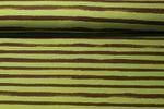 Sommersweat - Groovy Stripes Grün Braun 001