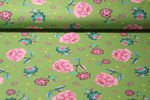 Sommersweat - French Terry Print Blumen Grün Multicolor 001