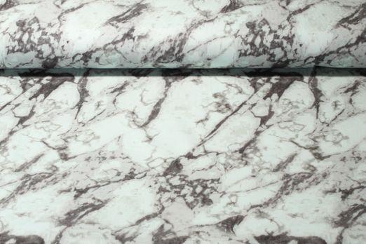 Jersey gemustert - Digitalprint Marmor Mint Grau