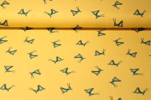 Jersey gemustert - Grashüpfer Gelb Grün