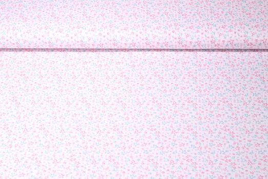 Baumwolle gemustert - Sterne Rosa Multicolor
