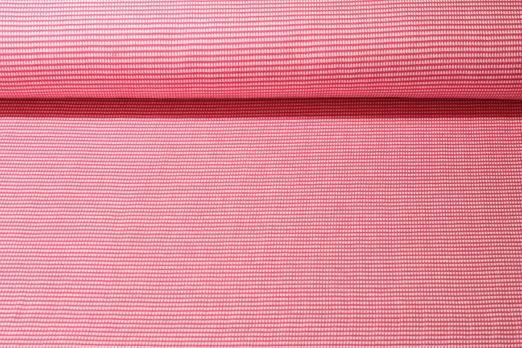 Jersey gemustert - Albstoffe GOTS Weekender Itsy Bitsy Waffel Piqué Pink Weiss
