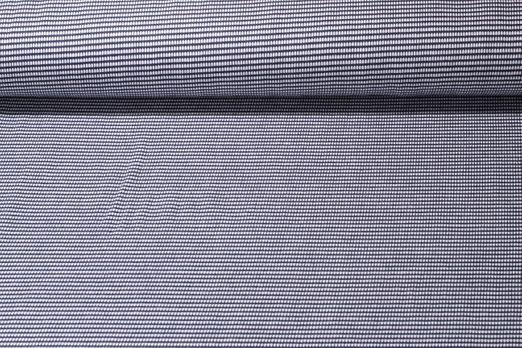 Jersey gemustert - Albstoffe GOTS Weekender Itsy Bitsy Waffel Piqué Navy  Weiss