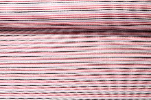 Jersey gemustert - Albstoffe GOTS Weekender Funny Knit 3D Waffel Piqué Rot Multicolor