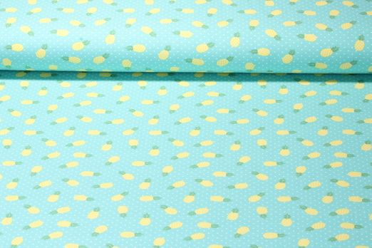 Jersey gemustert - Ananas Mint Multicolor