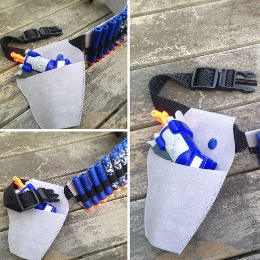 Patronengurt und Halfter für Spielzeugpistole aus SnapPap - Schnittmuster eBook