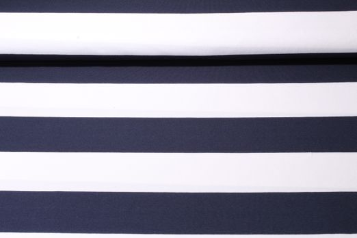 Jersey gestreift - Hamburger Liebe Weekender Mega Stripe Weiss Navy