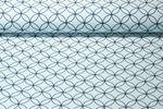 Canvas gemustert - Retro Kreise Hellblau Navy 001