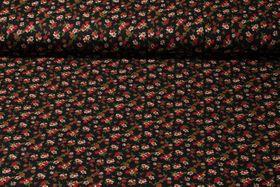 Viskosejersey - Petit Fleur Schwarz Multicolor