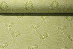 Canvas gemustert - Palmenblätter Grün Weiss 001