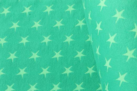 Bündchen gemustert - Große Sterne Grün Lime