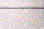Baumwolle gemustert - Flamingo Holiday Grau Multicolor   001