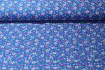 Baumwolle gemustert - Lovely Liberty Blümchen Blau Multicolor 001