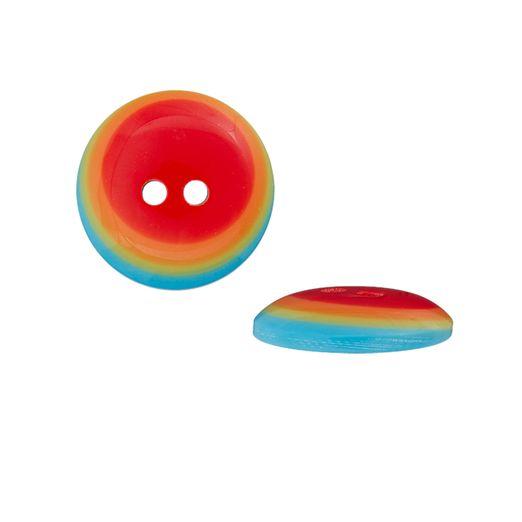 Polyesterknopf 2-Loch multicolor
