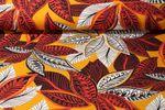Jersey gemustert - Oriental Leaves Ocker Multicolor 001