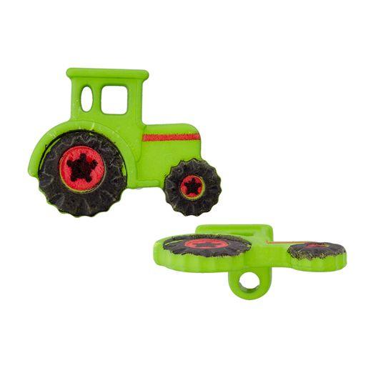 Polyesterknopf Öse Traktor 23mm