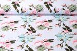 Jersey gemustert - Digital Print Roses and Dots Hellblau Multicolor 001