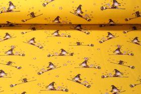 Sweat gemustert - Softsweat Kleine Hexe Gelb Multicolor