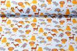 Sweat gemustert - Softsweat Die Zoo Bewohner Hellblau Multicolor  001