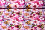 Jersey gemustert-Digitaldruck Blütenmeer Fuchsia Multicolor  001