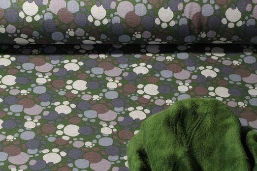 Alpenfleece - Dots Grün Multicolor