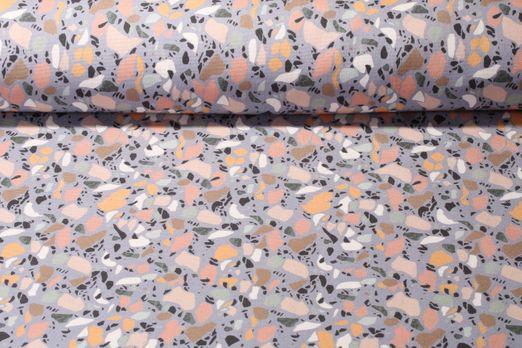 Canvas gemustert - Terrazzo Grau Multicolor