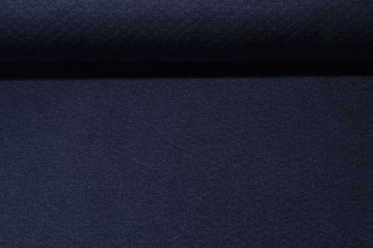 Waffelsweat Greta - Blau Melange