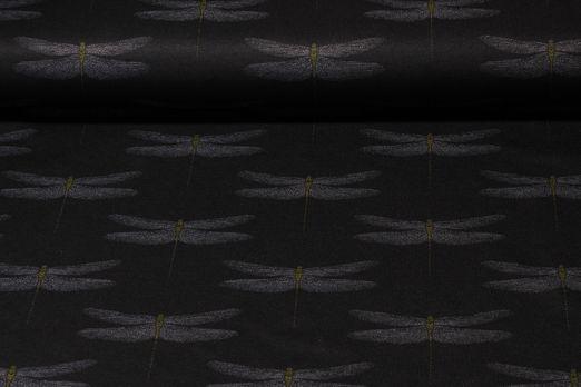 Romanit Jersey - Libellen Schwarz Grau
